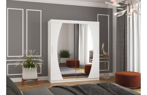 Garderobna omara z drsnimi vrati Baltimore (180 cm)