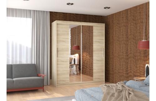 Garderobna omara z drsnimi vrati Dallas (180 cm)
