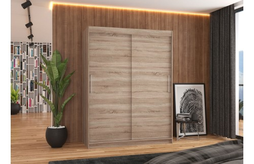 Garderobna omara z drsnimi vrati Denver (150 cm)