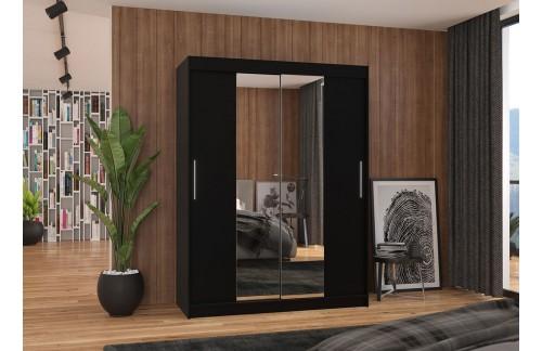 Garderobna omara z drsnimi vrati Iness (150 cm)