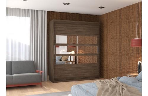 Garderobna omara z drsnimi vrati Toledo (180 cm)