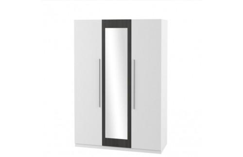 Garderobna omara VERA (bela-črn oreh)-147cm