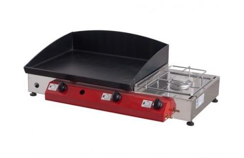 Namizni plinski žar Gorenc, 80 x 40, Fe 5mm plošča, dva gorilnika, kuhalnik, brez nog