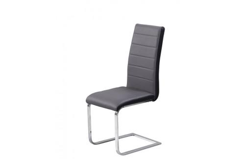 Jedilni stol Triumph: siv sedežni del, črn rob
