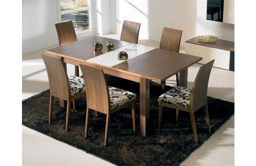 Jedilnica NL1: jedilna miza Lucia Carya in 6 stolov za jedilnico Noce