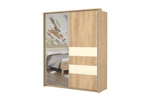 Garderobna omara Kalla Comfort z drsnimi vrati in ogledalom (180 cm)