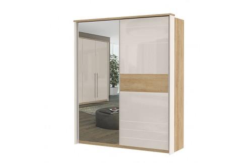 Garderobna omara Kalla Modern z drsnimi vrati in ogledalom (180 cm)