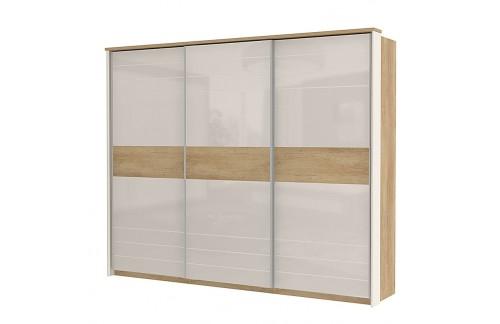 Garderobna omara Kalla Modern z drsnimi vrati (280 cm)