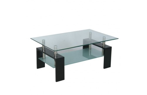 Klubska mizica Intro, črna - NI ORIGINAL EMBALAŽA
