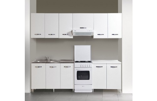Komplet kuhinja Azur Line- bela, 250/260 cm