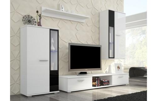 Dnevna soba LEON (bela, visoki sijaj)