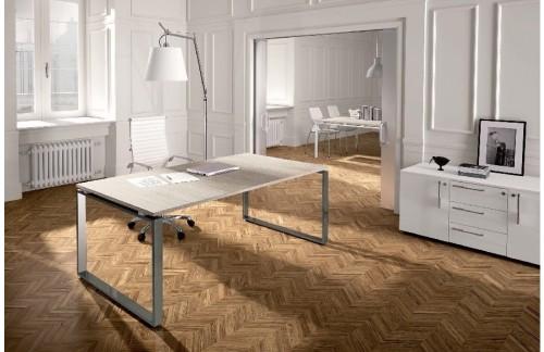 Pisalna miza LF610 (bela, aluminij noge, 160x80)