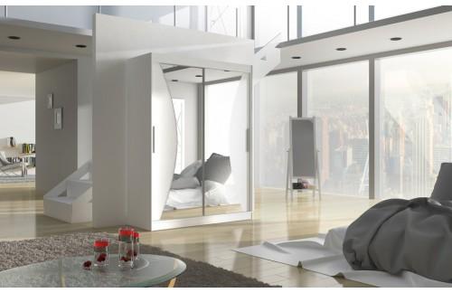 Garderobna omara z drsnimi vrati Max (150 cm)