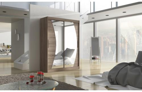 Garderobna omra z drsnimi vrati Modesto (150 cm)