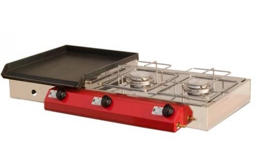 Namizni plinski žar Gorenc, 90x40, Fe plošča, dva kuhalnika, brez nog