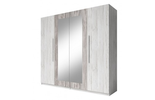 Garderobna omara VERA (svetel siv bor-temen siv bor)
