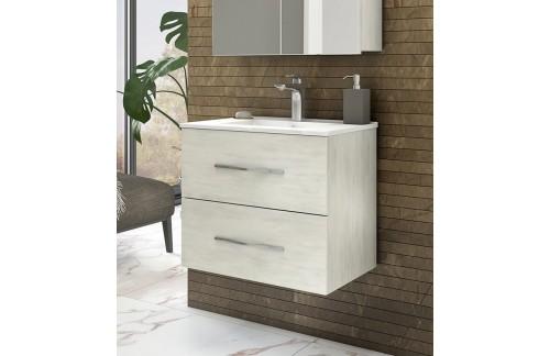 Omarica z umivalnikom CORALLO 80 cm - beli hrast