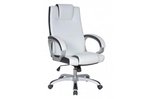 Pisarniški stol PS002 (EKO usnje bele in črne barve)