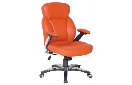 Pisarniški stol PS043 (EKO usnje oranžne barve)