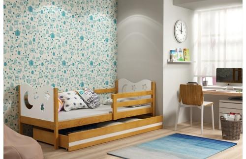 Postelja MIKO s predalom (različne barve) + GRATIS ležišče