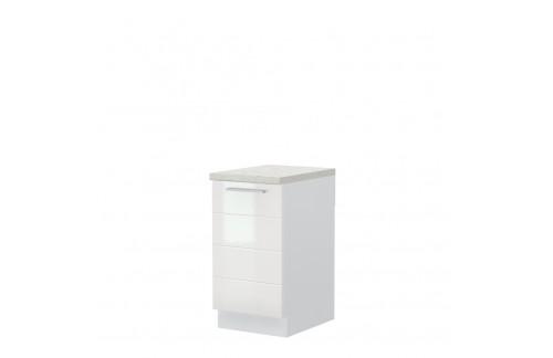 Element za kuhinjo Highline - R-45-1K/3, bela - ZALOGA