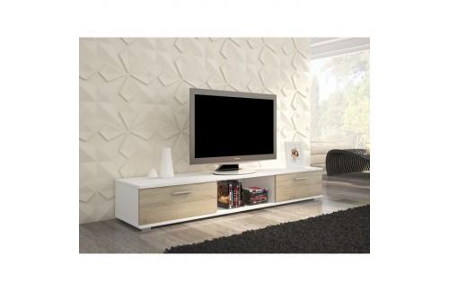 TV regal SELLA (različne barve)-Bela/Sonoma