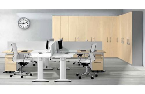 Set pisarniških miz s pregradami in predalniki TK07-1