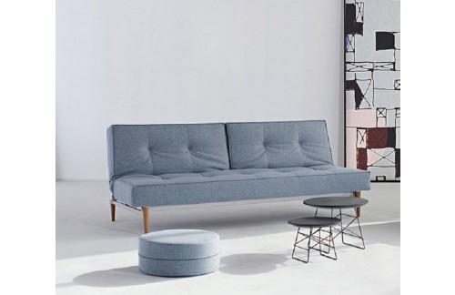 Kavč SPLITBACK SOFA BED s temno stileto lesenimi nogicami