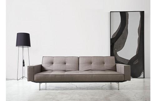 Kavč SPLITBACK SOFA BED z rokonasloni in s kromiranimi nogicami