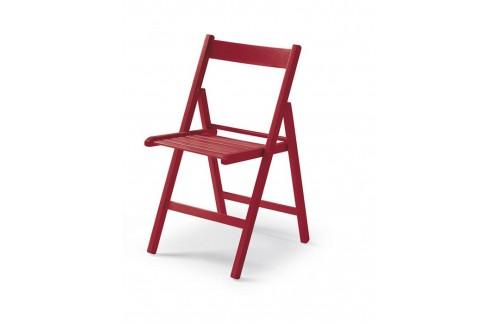 Zložljiv stol BUNNY, Rdeča - POŠKODOVANO