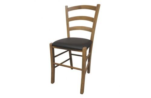 Stol Paesana (Hrast/rjava-Oblazinjeno sedišče) - EKSPONAT