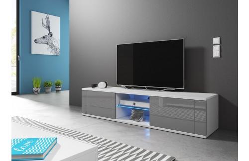 TV omarica HOLLY siva visoki sijaj 140 cm + LED