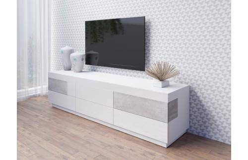 TV OMARICA STOCKHOLM 206CM BELA/BETON