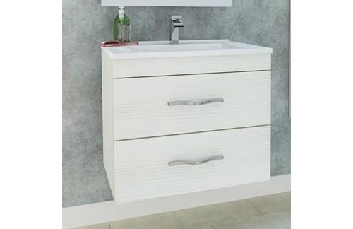 Omarica z umivalnikom CORALLO 60 cm - beli hrast - EKSPONAT