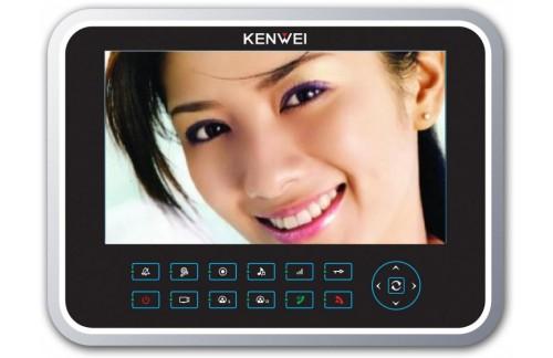 Video domofon Kenwei KW-129C (s spominom ali brez)-črna notranja enota