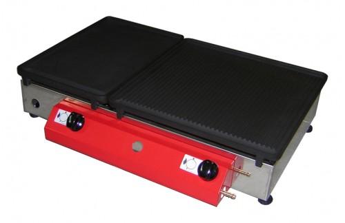 Namizni plinski žar 65x40 z LTŽ ploščo z dvema gorilnikoma