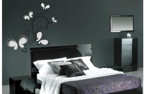 Stenska nalepka WALLTATTOO 140 70x50 (črno srebrna)