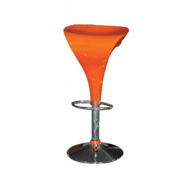 Barski stol SONG - oranžen