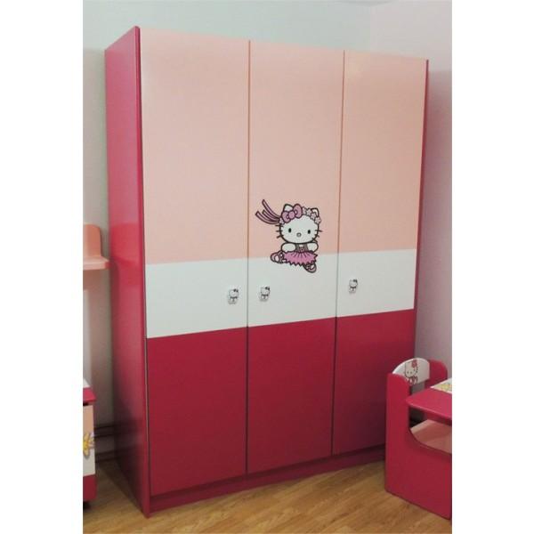 Otroška omara HELLO KITTY (roza)