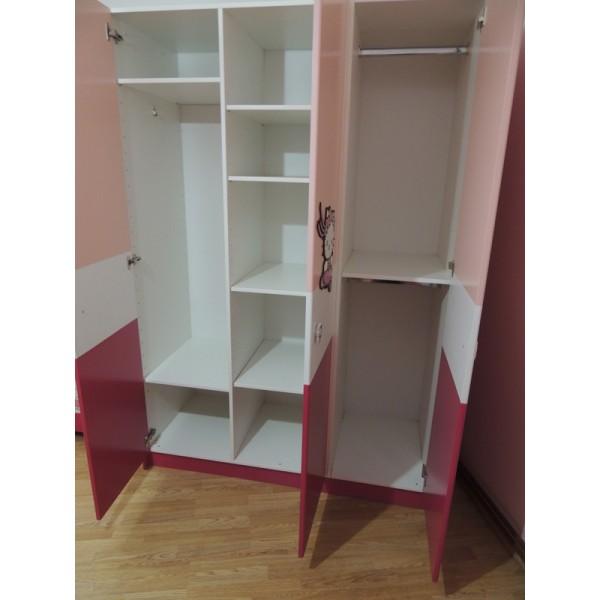 notranjost otroške omare HELLO KITTY (roza)