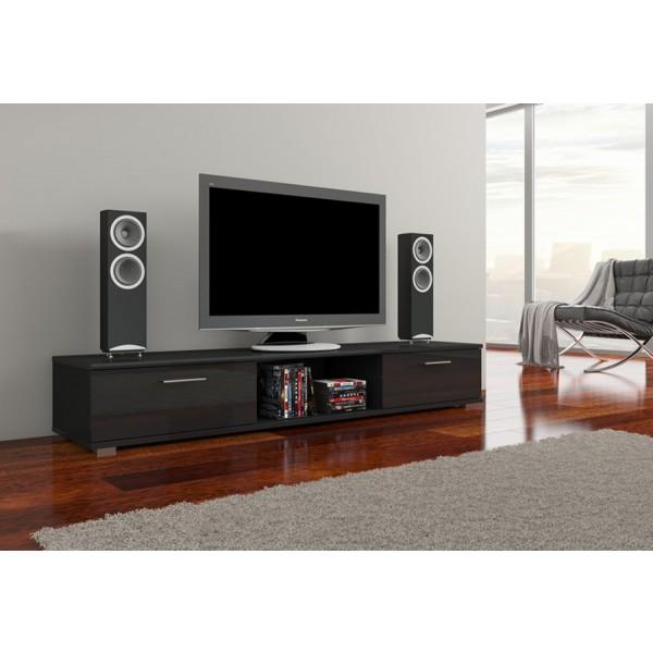 TV regal ARIDEA (črna, visoki sijaj)