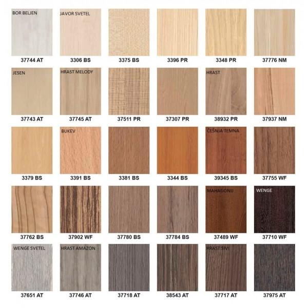 Kovinska postelja AMIDA G2 - Barve lesa