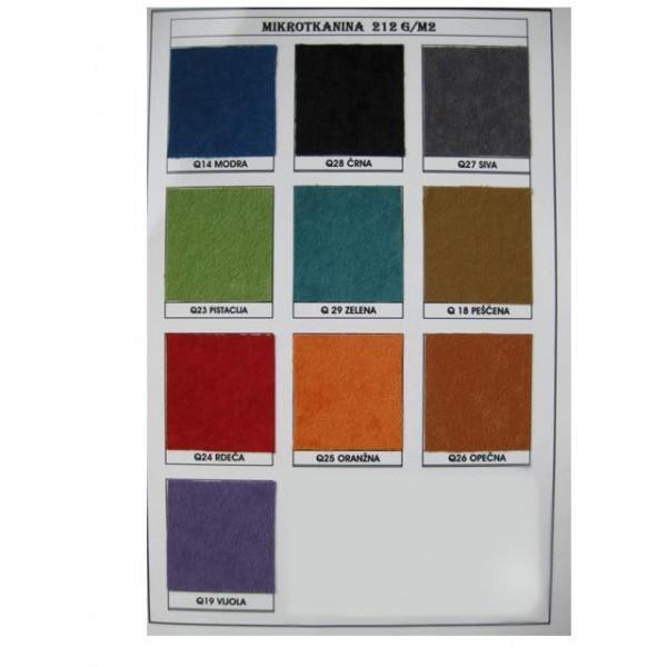 Mikrotkanina: Barve