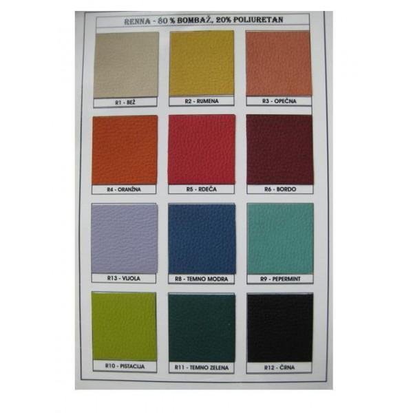Tkanina Renna: barve