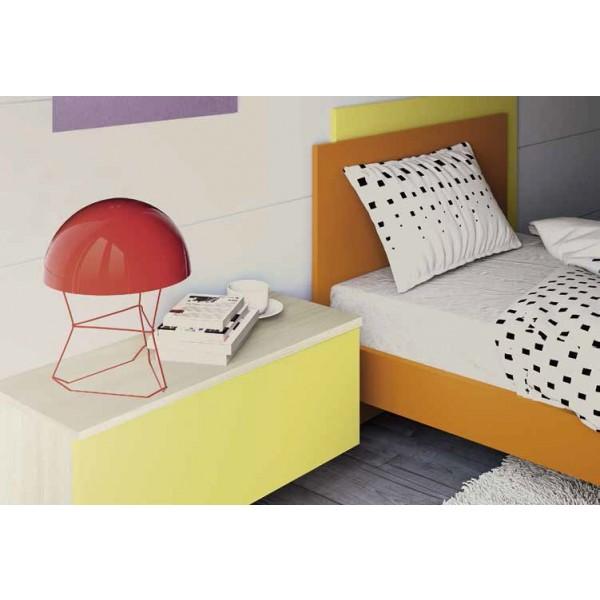 Otroška soba Columbini Volo C101 - postelja in stenska omarica s polico