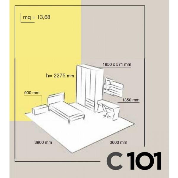 Otroška soba Columbini Volo C101 - skica