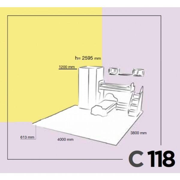 Otroška soba Colombini Volo C118 - skica
