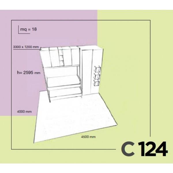 Otroška soba Colombini Volo C124 - skica