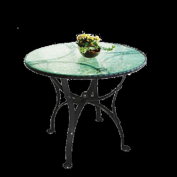 Okrogla miza Castrum - lito steklo