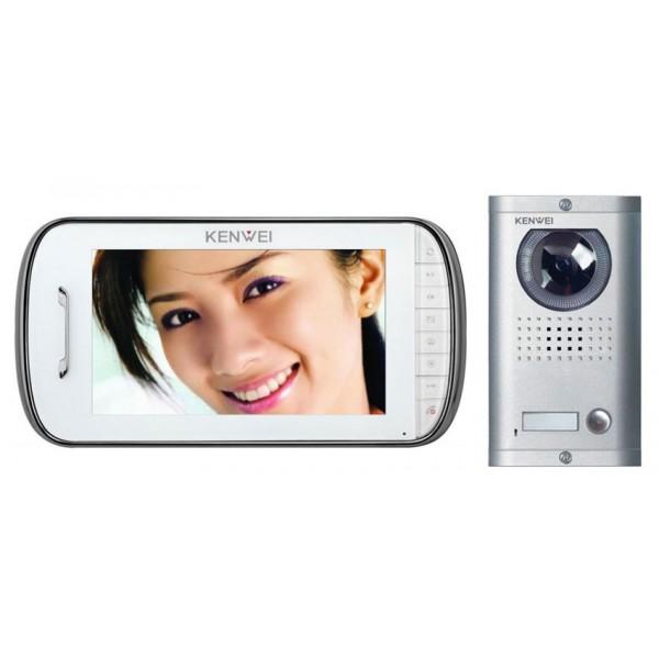 Komplet video domofon KW-E703FC & KW-138MC-1B - BELA